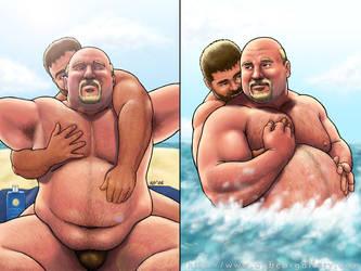 Bear beach fun by apbearg