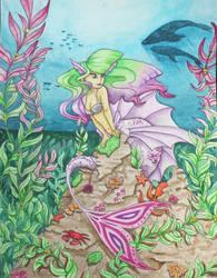 West coast Mermaid by HASBEAN