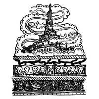 Cloud Castle Cake (mini ink) by Igelstrom