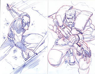 cable deadpool by toonfed