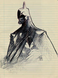 bearded batman by toonfed