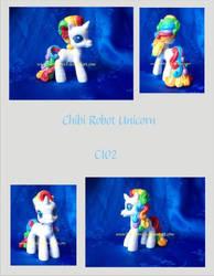 Chibi Robot Unicorn by NorthernElf