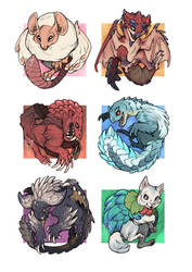 Monster Hunter Stickers by tashcrow