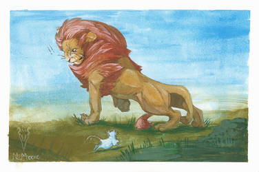 Cowardly Lion Painted by tashcrow