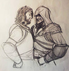 Ezio and Yusuf by Mokinow