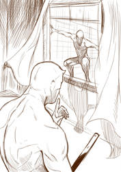 Spiderman and Daredevil ( work in progress) by Mokinow
