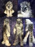Snow Leopard Fursuit Full Turnaround by Beetlecat