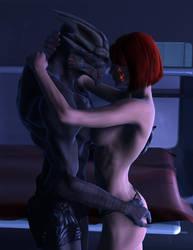 Garrus Femshep Romance by MadamGoth