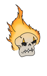 Fire skull by Mammouth55