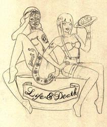 Life and death pin ups by Shinu-chan