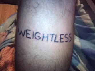 Weightless, my 1st tattoo made by Shinu-chan
