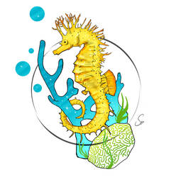 Seahorse Tattoo design by SidMaster