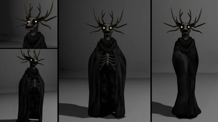 Specimen 8/ The Deer Lord 3D Render by SeriousNorbo