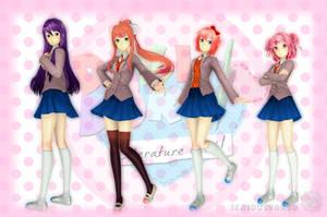 Doki Doki Literature Club 3D Models by SeriousNorbo