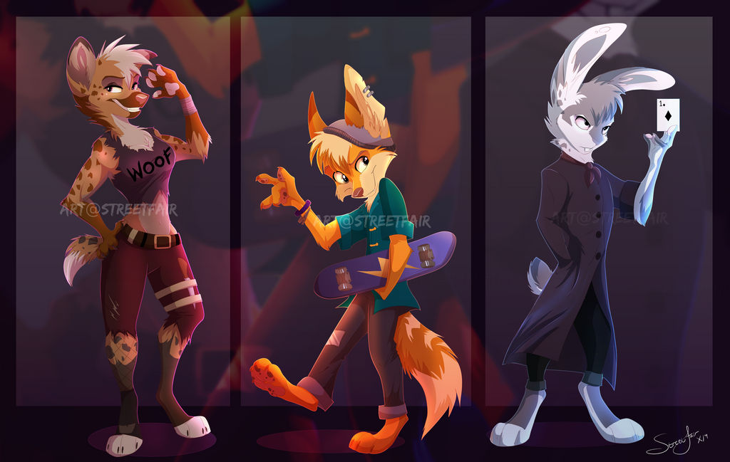 Fursona Adopts Set 1 (NOT YET FOR SALE :3 ) by Streetfair