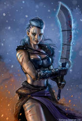The Frost Valkyrie by SirTiefling