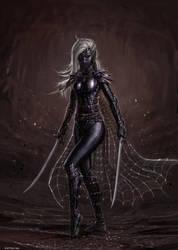 Dark Elf Assassin by SirTiefling
