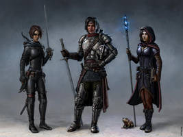 Three Adventurers by SirTiefling