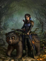 Vex and the Bear by SirTiefling