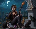 Rooftop Cats by SirTiefling