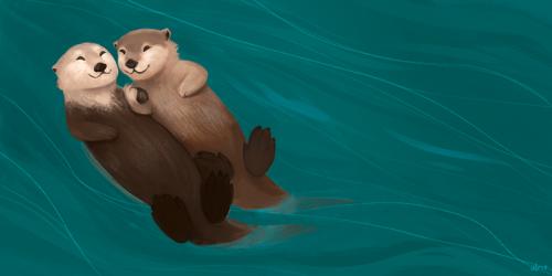 Otters by zuluyo