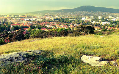 View of Nitra city from the Kalvaria hill by WildSammy