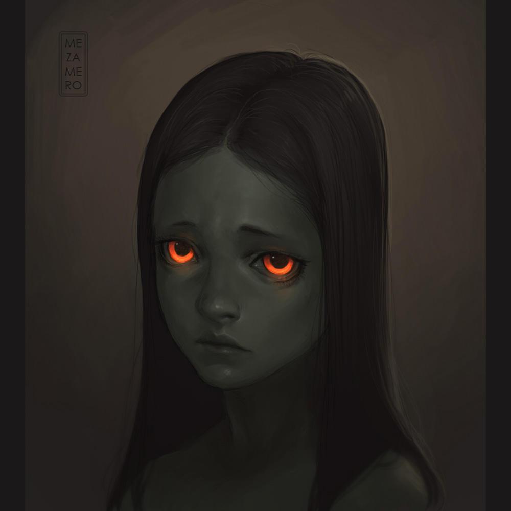 portrait again by Mezamero