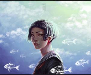 Head in clouds by Mezamero
