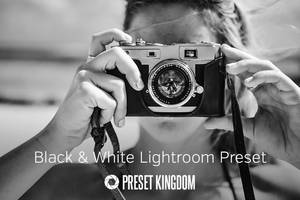 Free Black and White Lightroom Preset by presetkingdom