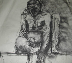 life drawing man by Halli