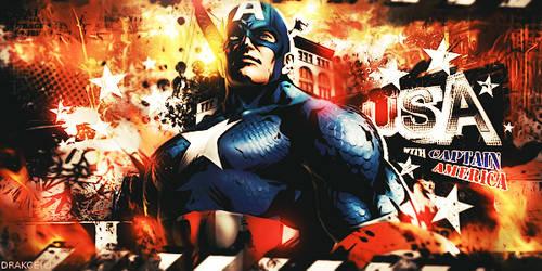 Captain America USA by DrakceKo
