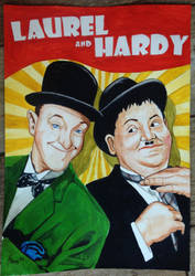 Laurel and Hardy by S-Rains