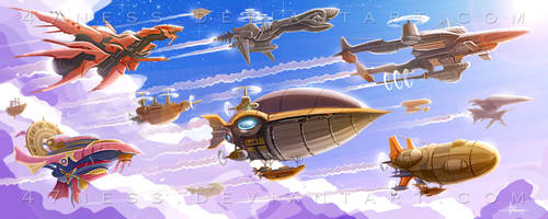 To The SKIES --Final Fantasy-- by 47ness