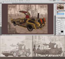 Steampunk DeLorean - scrap by 47ness