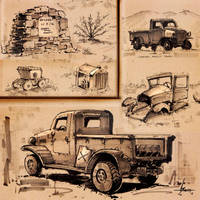 Ballarat Sketches 2-5-16 by 47ness
