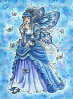 Le Papillon bleu de minuit by delphineart
