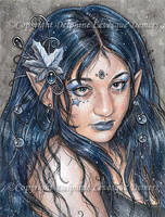 Delphine Self-Portrait by delphineart