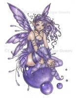 Amethyst Orb Fairy by delphineart