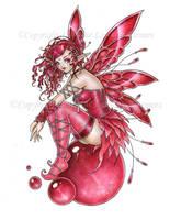 Ruby Orb Fairy by delphineart