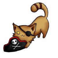 Pirate cat by FedeMidnight