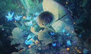 Blue Butterflies by armagaten