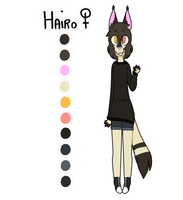 Hairo - reference sheet by kari-v