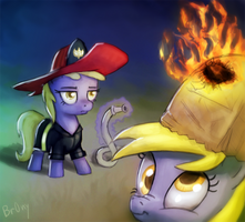 Dinky the Firefighter by Br0ny