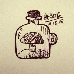 Day 144 - Bottle (Inktober2018) by zk306