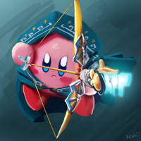 Kirby breath of the wild by h-reshii