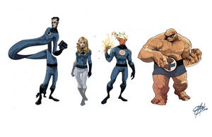 Fantastic Four Line-Up by Shadowgrail
