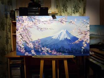 Sakura - Fuji by Banzai-sk