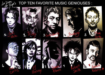Top 10 Fave Music Geniouses by LaDameDePique