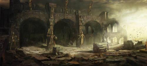 Temple of the sun by Najeeb-Alnajjar