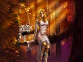 Eline the druid by Thepastart